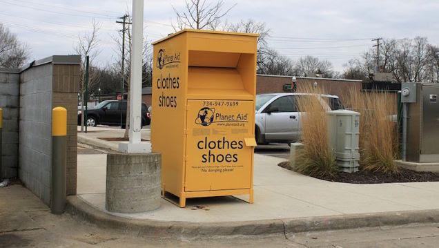 Planet Aid's Yellow Clothing Donation Bins