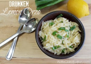 Drunken Lemon Orzo Recipe by A Little Claireification #pasta #dinner