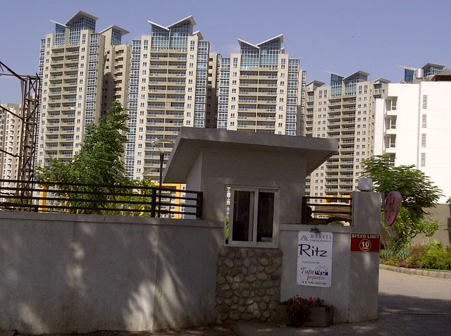 Entrance of Marvel Ritz & Aspire Towers from Tupe Patil Road, Sade-Satara-Nali (Sade-Satra-Nali) Gram Panchayat, Hadapsar, Pune 411028