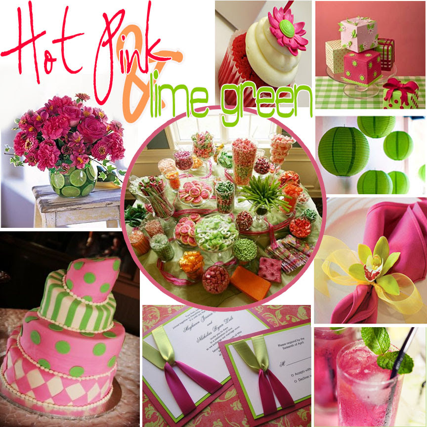 Bella Grace Party Designs Hot Pink Lime Green