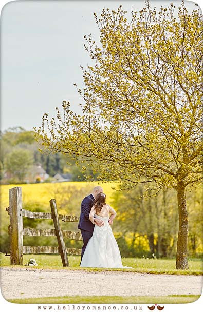 Photojournalistic, reportage photo of Bride and groom at Suffolk Wedding venue (Suffolk Barn) - www.helloromance.co.uk