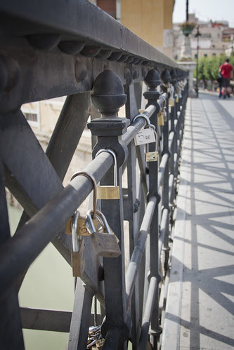 Murcia bridge locks, Spain