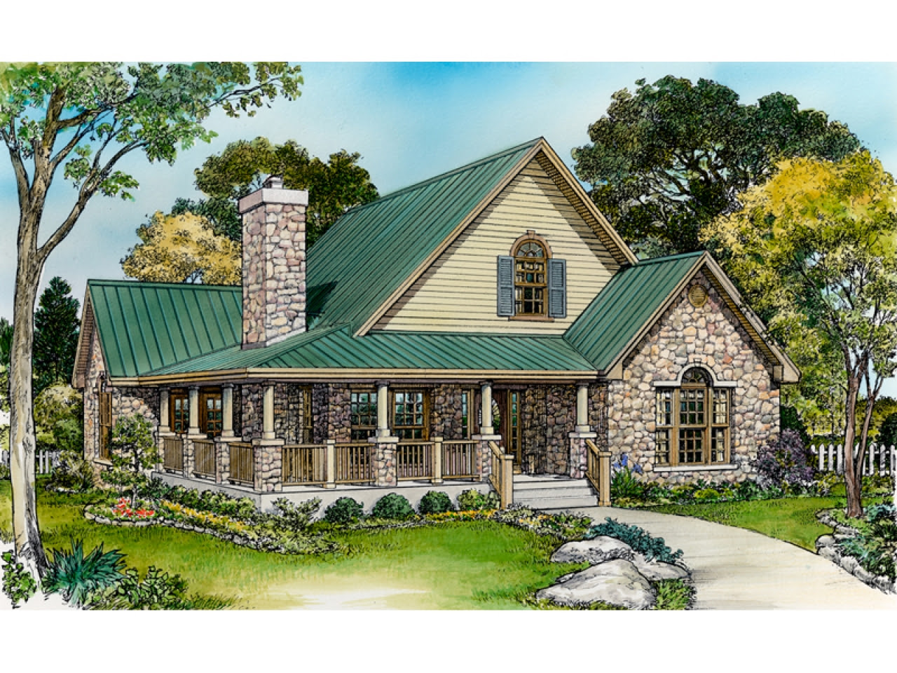 Small Rustic House Plans with Porches Small Country House ...