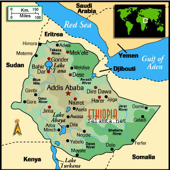 Ethiopia Tourist Attractions Map - Attractions Near Me