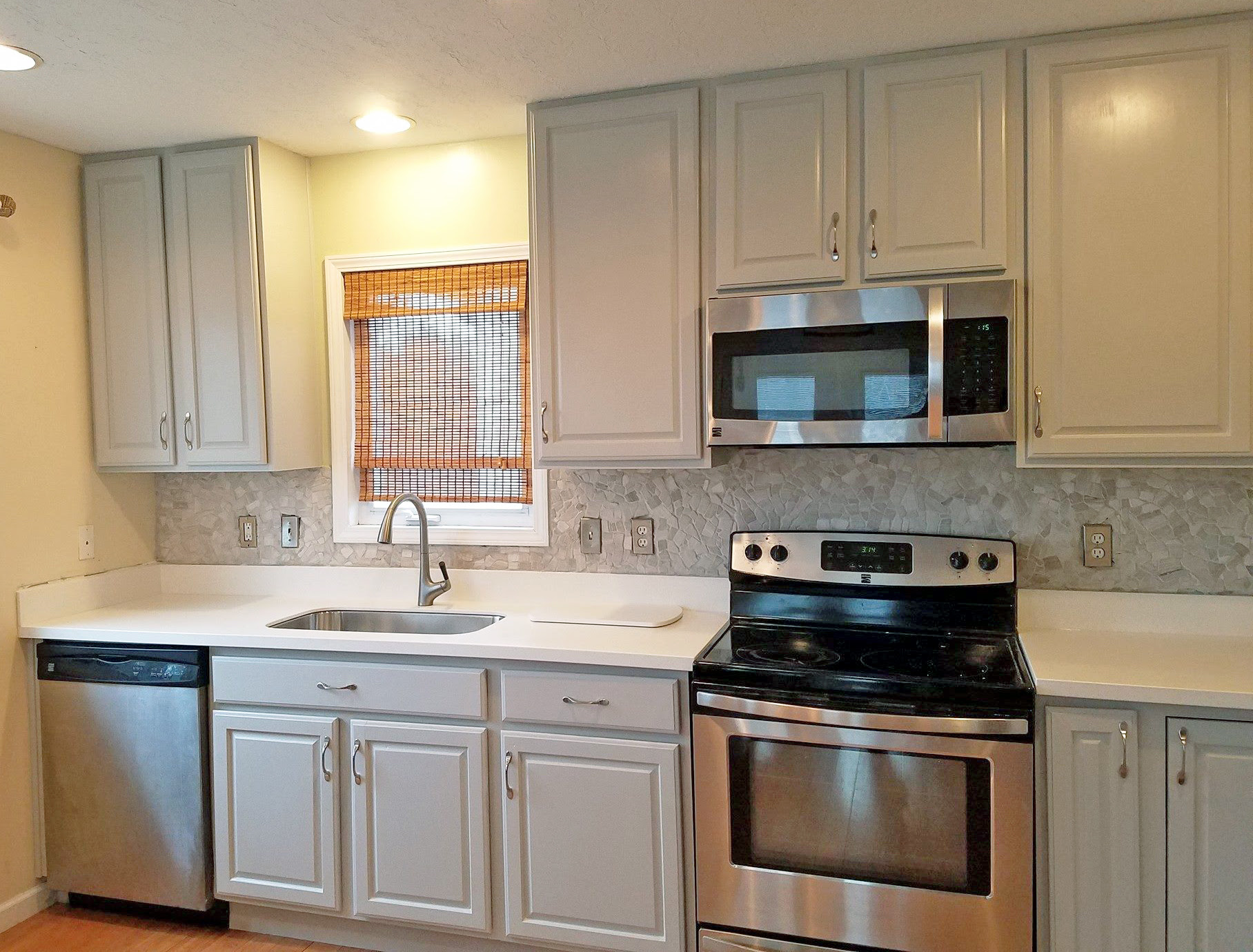 Seagull Gray Kitchen Cabinet Makeover   General Finishes ...