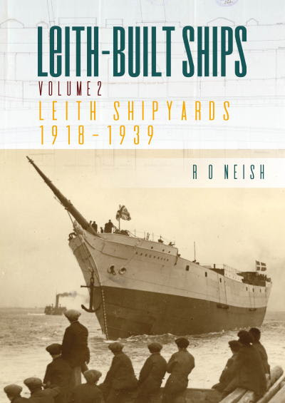 Book Cover Leith-built Ships, reviewed in Africa PORTS & SHIPS maritime news