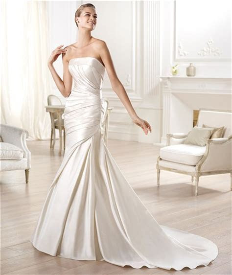 Sexy Mermaid Strapless Off The Shoulder Low Back Satin