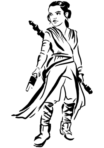 Rey Coloring Page Free Printable Coloring Pages