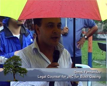 Derek Fernandez - Legal Counsel for JAC for Bukit Gasing