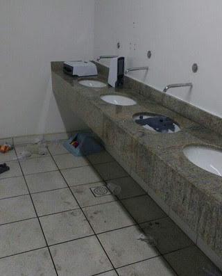 banheiro, Estádio Nilton Santos, Engenhão (Foto: Reprodução)