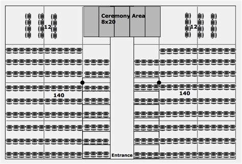40ft x 60ft wedding ceremony diagram with stage   Iowa