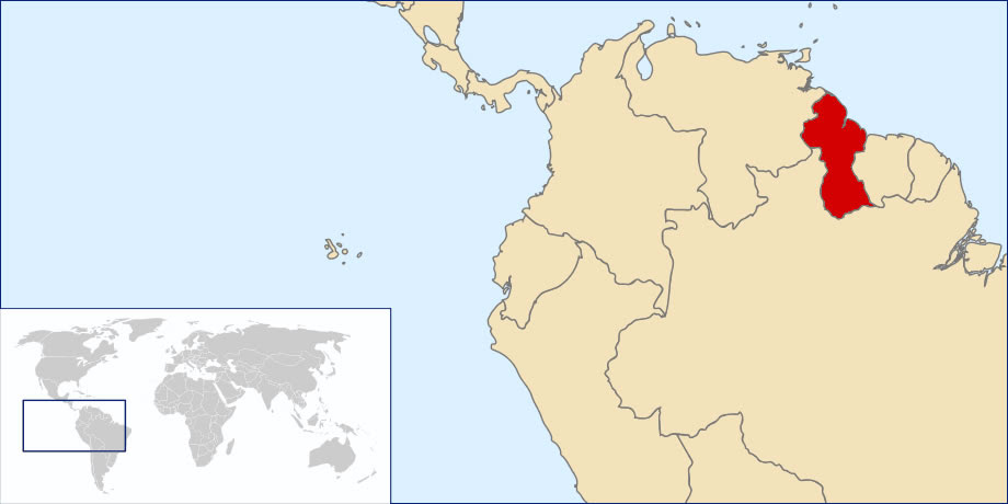 Situer Guyana Sur Carte Du Monde Situer Pays De Guyana Sur