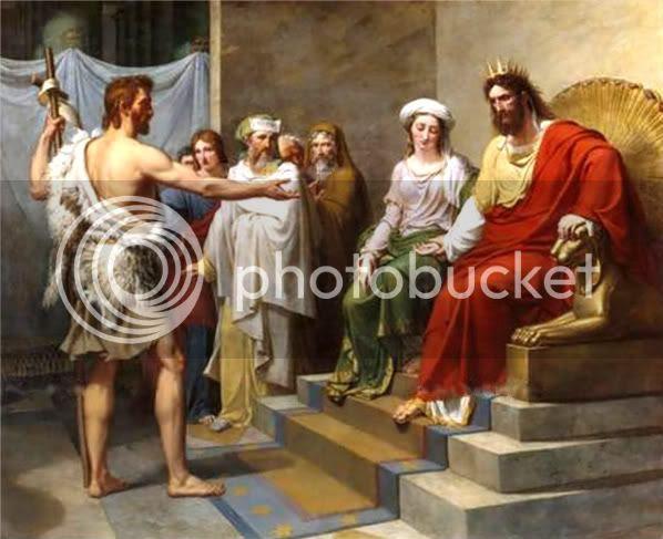 JOHN THE BAPTIST REBUKES KING HEROD