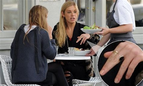 Chelsy Davy catches up with a friend following rumours she