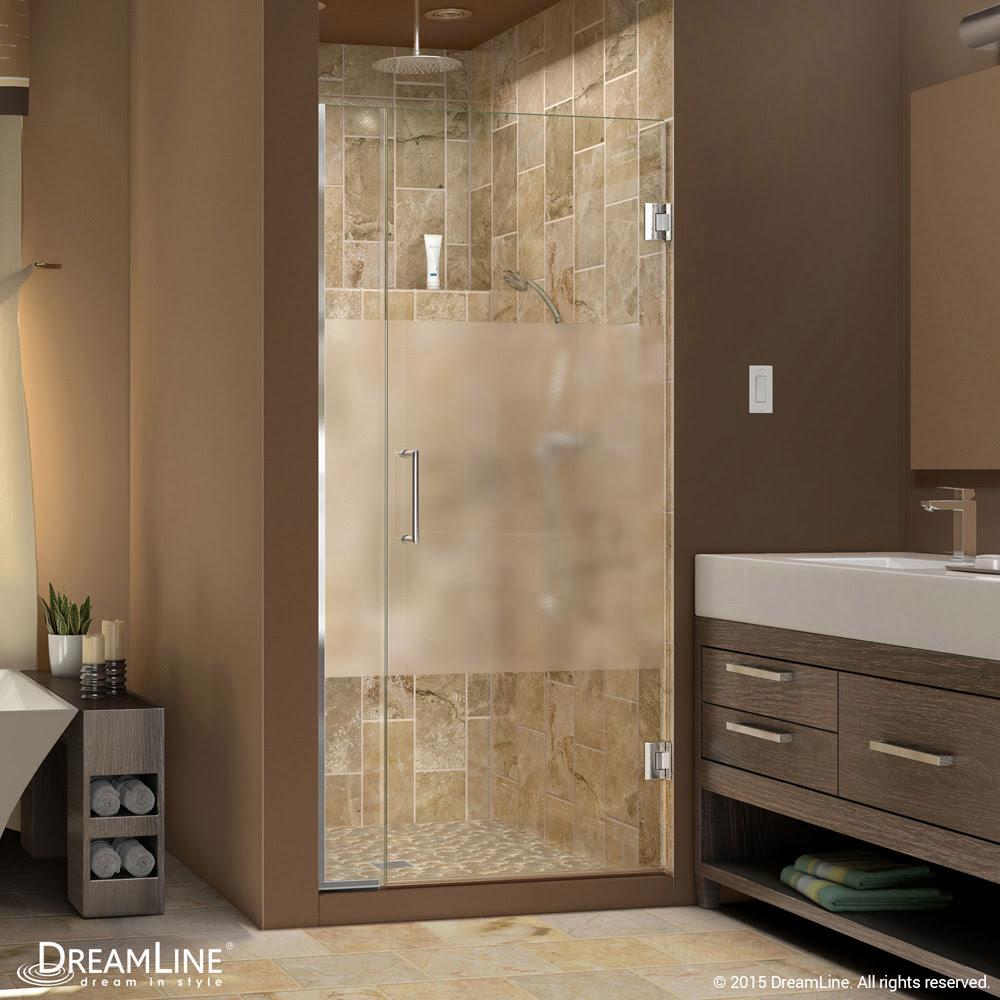 Unidoor Plus Half Frosted Glass Shower Door