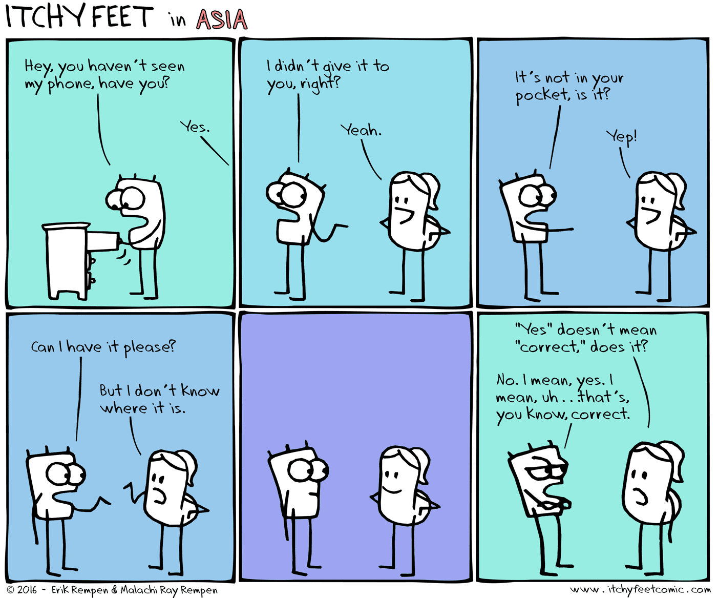 Yes doesn't always mean correct in English