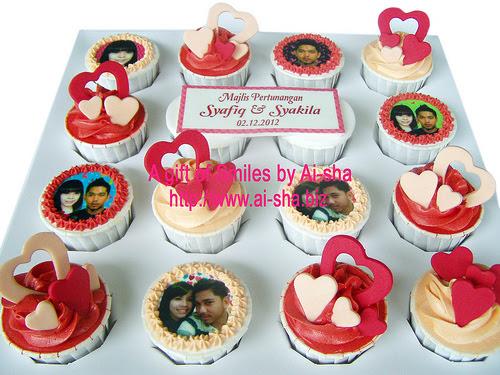 Engagement Cupcakes Edible Image Ai-sha Puchong Jaya