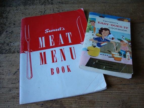Lot of 2 Vintage Cookbooks