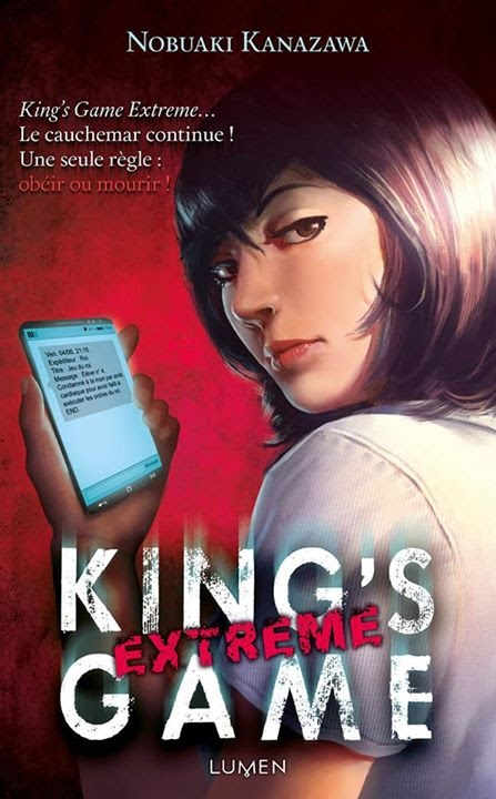 Couverture King's Game (roman), tome 2 : King's Game Extreme