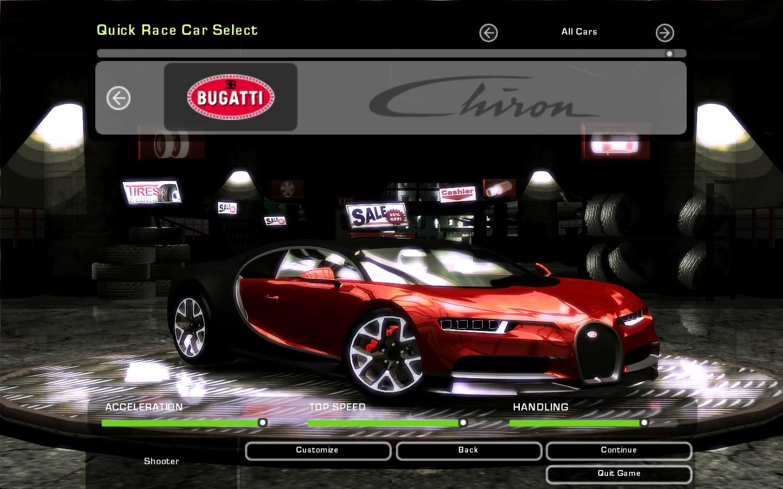 Need For Speed Underground 2 Bugatti Chiron | NFSCars