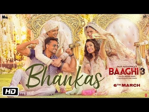Bhankas Lyrics - Baaghi 3 Movierulz (2020)