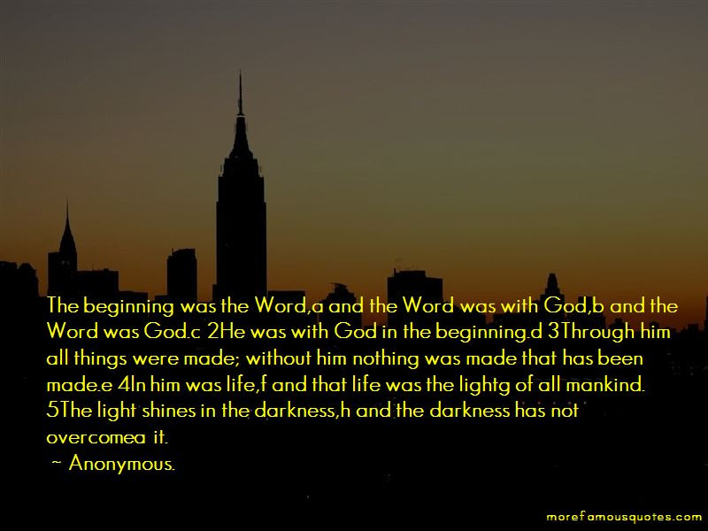 Light Shines In The Darkness Quotes Top 34 Quotes About Light