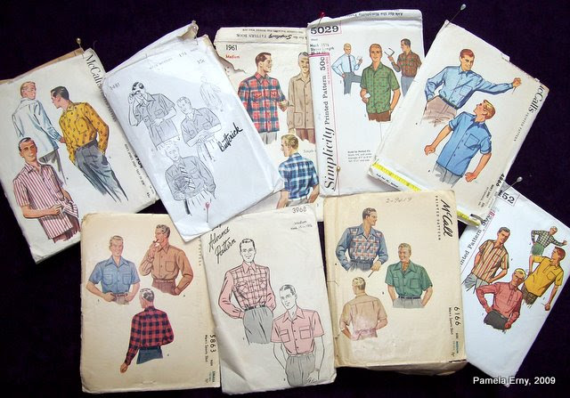 A few Vintage Menswear Patterns