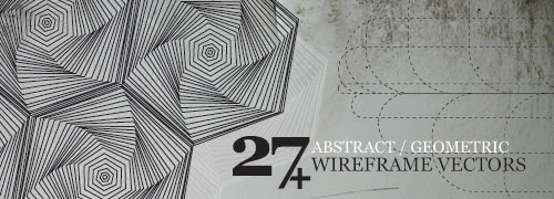Abstract/Geometric  Wireframe Vectors