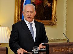 Benjamin Netanyahu at press conference