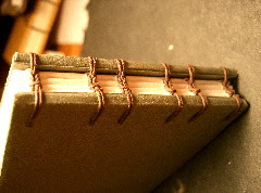 this is a coptic binding up close