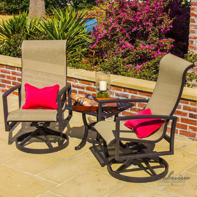 Acadia Sling Patio Furniture - Modern - Outdoor Lounge ...