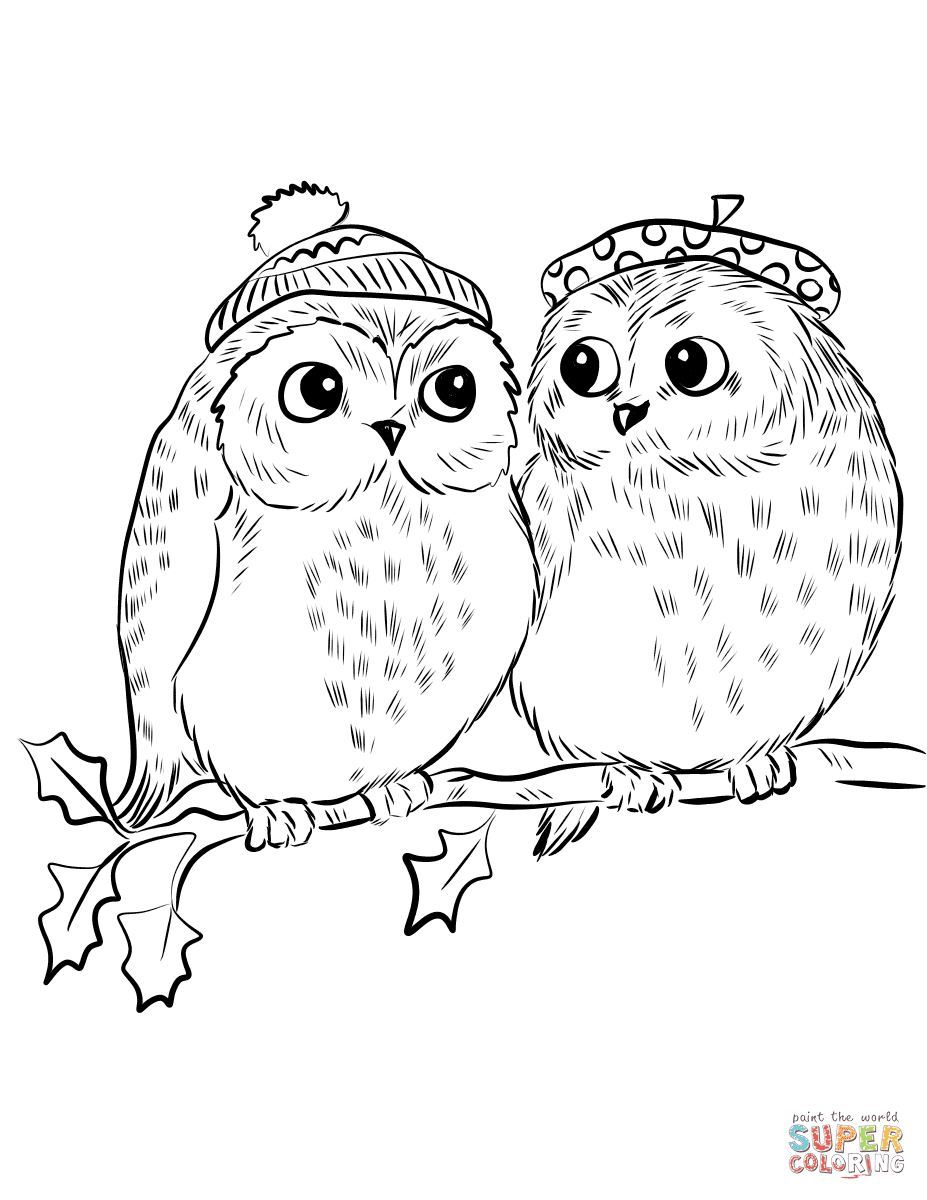 7600 Coloring Pages Owls Cute For Free