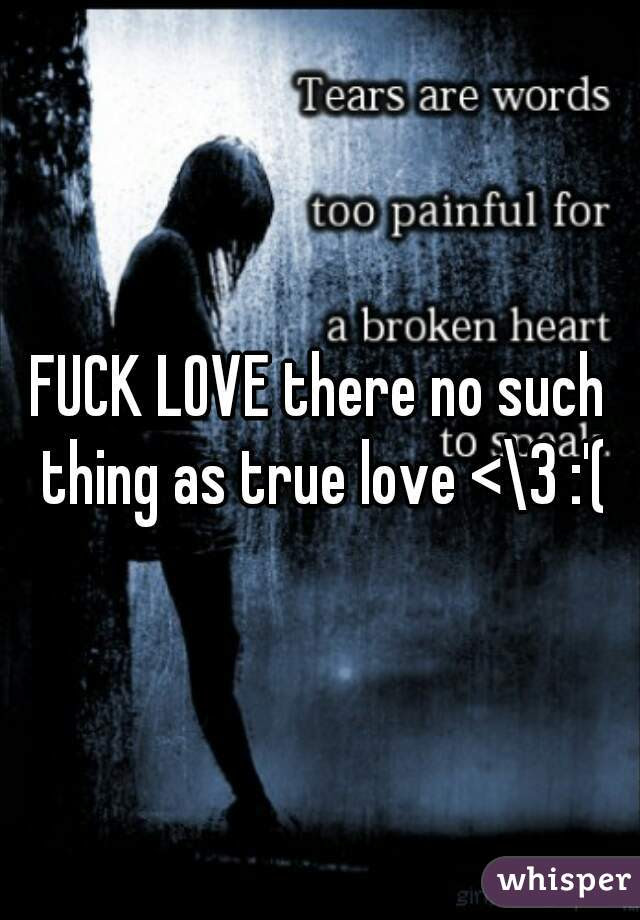Fuck Love There No Such Thing As True Love 3