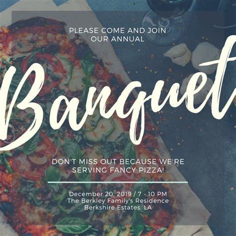 Customize 71  Banquet Invitation templates online   Canva