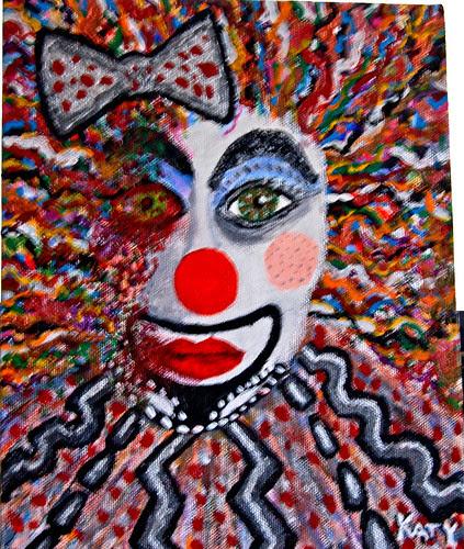 Whore clown in decline (8 X 10)