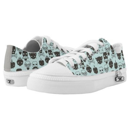 Personality Skull Pattern Shoes - Mint