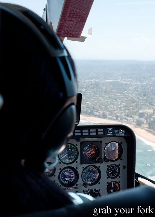 Bondi Helicopter flight aerial view of Sydney