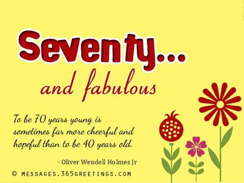 Birthday Wishes For Seventy Year Old Greetings