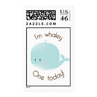 I'm Whaley One Today! Birthday Postage stamp