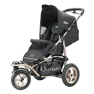 Quinny 65803480 - Freestyle 3XL Comfort, Jogger inklusive geräumigen Einkaufskorb, Spielbügel, Klingel und Luftpumpe, Black
