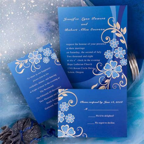 Royal Blue Invitations Wedding   Sunshinebizsolutions.com
