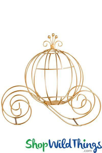 Wire Princess Carriage Golden Coach Centerpiece Decoration