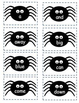 Halloween Sight Word Spider Game