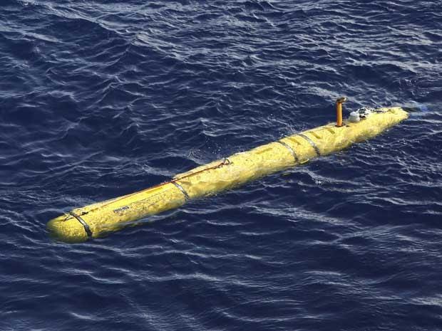 O Bluefin-21, submarino autônomo, que rastreia destroços e a caixa-preta do Boeing da Malaysia Airlines, que desapareceu em 8 de março. (Foto: Força de Defesa Australiana / Via Reuters)