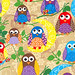 What A Hoot - Fashionista Owls - Tan