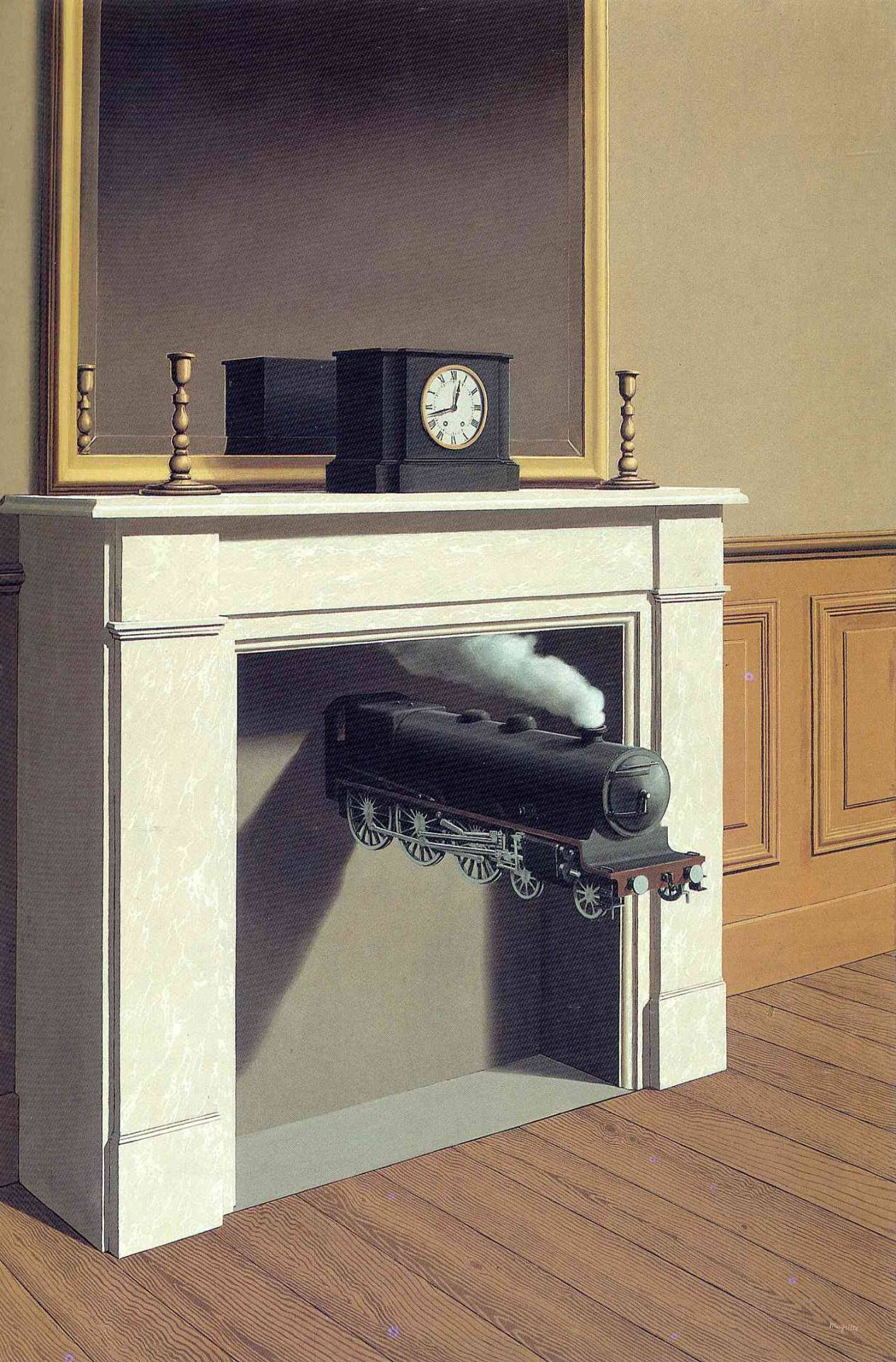 Time transfixed, 1938 Rene Magritte