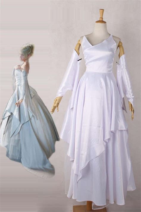 Final Fantasy XV FF15 Luna Wedding Dress Cosplay Costume