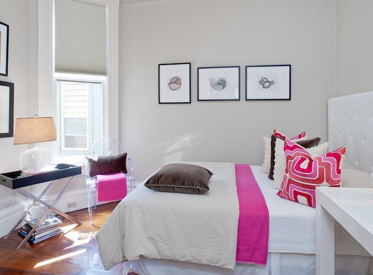 Pink Throw Blanket - Contemporary - girl's room - Tamara Mack Design
