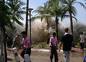 A picture of the 2004 tsunami in Ao Nang, Krab...