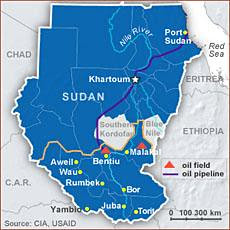Pipeline linking northern and southern Sudan. In the aftermath of the partition of Africa's largest geographic nation-state, problems have developed over the country's most valuable export. by Pan-African News Wire File Photos
